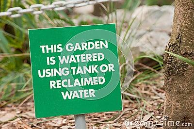 Garden warning sign