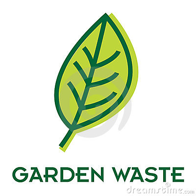 Garden waste recycle sign