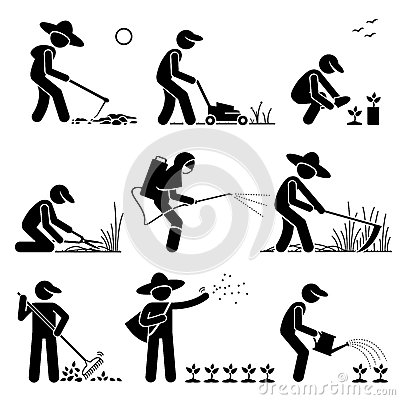 Free Gardener And Farmer Clipart Stock Photography - 68204042