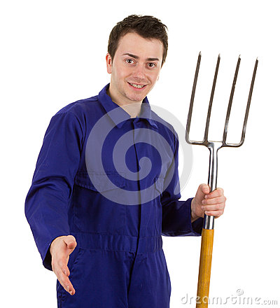 Gardener with a handshake
