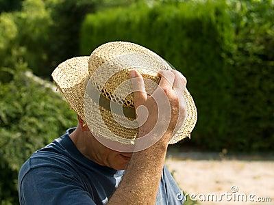 Gardener with hat