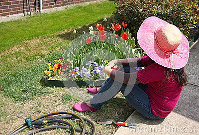 Gardener have a rest