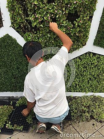 Free Gardener In Work Stock Image - 98838361