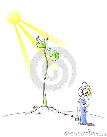 Free Gardener - Vector Cartoon Stock Photo - 8799730