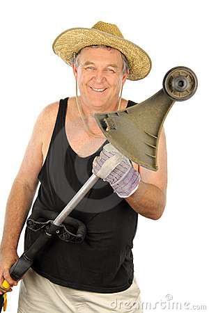 Free Gardener With Whipper Snipper Royalty Free Stock Photos - 13460418