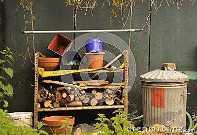 Gardeners junk pile