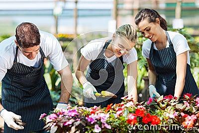 Gardeners working