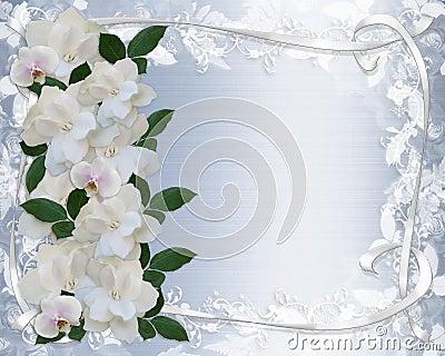 Gardenias And Lace Wedding Invitation