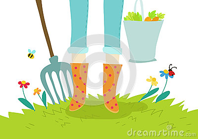 Gardening and agricolture illustration concept
