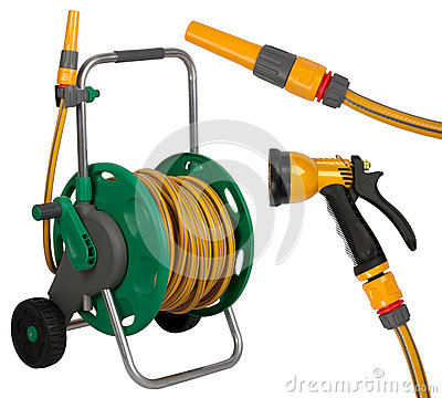 Gardening hose with nozzles