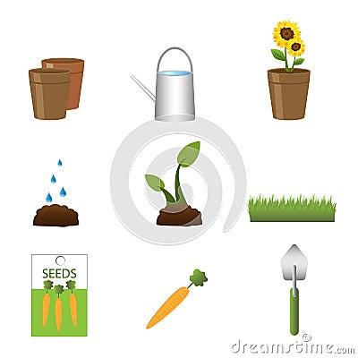 Free Gardening Icons Royalty Free Stock Image - 14398746