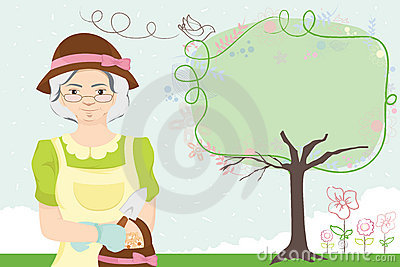 Gardening Lady Royalty Free Stock Images - Image: 17226869