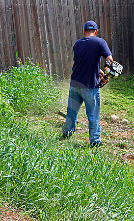 Gardening and weed whacking