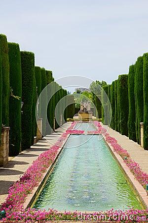 Gardens at the Alcazar of Cordoba, Spain