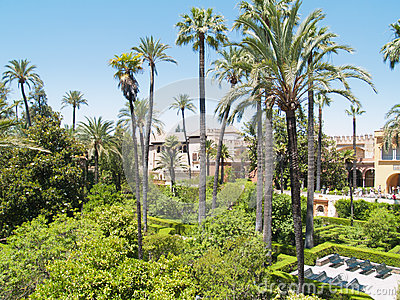 Gardens of the Alcazar of Seville, Spain