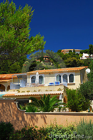 Free Gardens And Villas On French Riviera Stock Photos - 5182813
