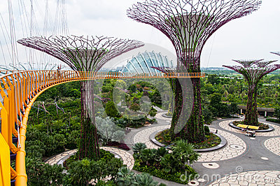 Gardens by the Bay Editorial Stock Image