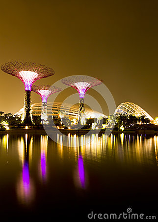 Free Gardens By The Bay Singapore Royalty Free Stock Photo - 26519065