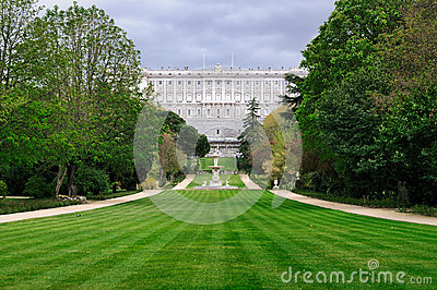 Gardens of the Royal Palace, Madrid, Spain