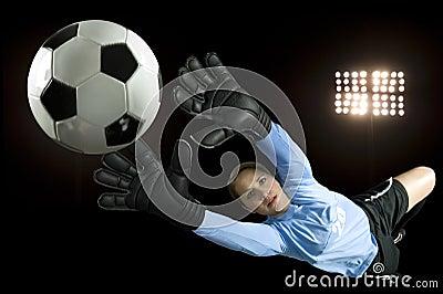 Gardien de but du football