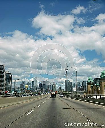 Gardiner Expressway Toronto Ontario Canada Editorial Stock Image