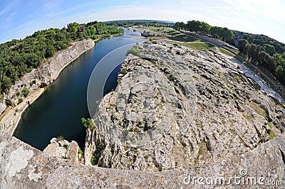Gardon river in France
