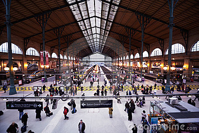 Gare de l'Est - Eastern Railway Station Editorial Photo