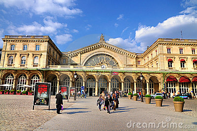 Gare de l Est Editorial Stock Photo
