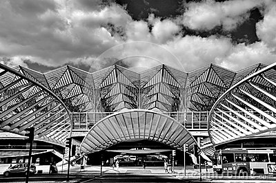 Gare de Oriente railway station, Lisbon Editorial Photography