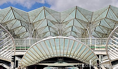 Gare de Oriente railway station, Lisbon, Portugal Editorial Photography