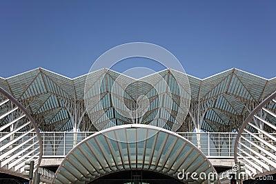 Gare do Oriente, Lisbon Editorial Stock Photo