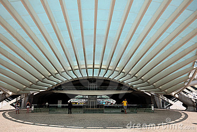 Gare do Oriente in Lisbon Editorial Photography