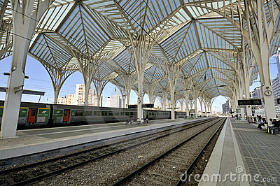 Gare do Oriente, Lisbon Editorial Stock Image