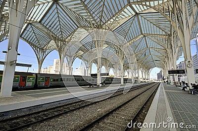 Gare do Oriente, Lisbon Editorial Stock Image