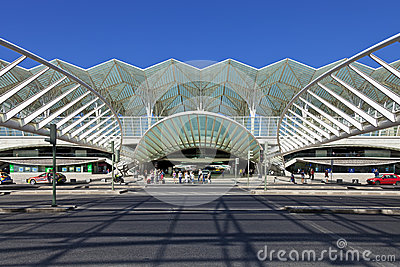 Gare do Oriente - Park of Nations - Lisbon Editorial Stock Photo