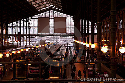 Gare du Nord, Paris Editorial Photo