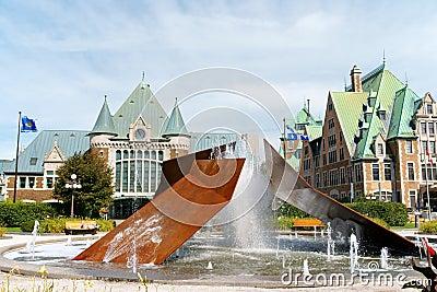 Gare du Palais in Quebec City, Canada Editorial Photography