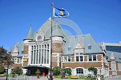 Gare du Palais, Quebec City Train Station, Canada Editorial Photo