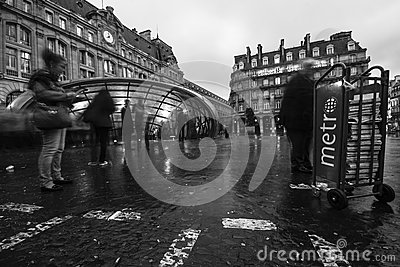 Gare Saint-Lazare Editorial Photography
