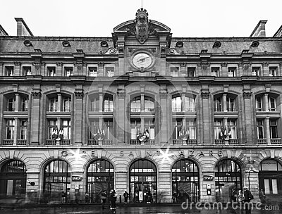 Gare Saint-Lazare Editorial Stock Photo