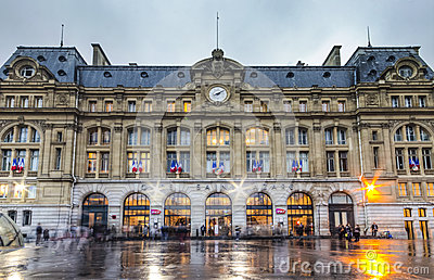 Gare Saint-Lazare Editorial Photo