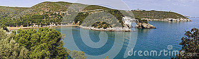 Gargano, sea cliff, Puglia, arc of san felice