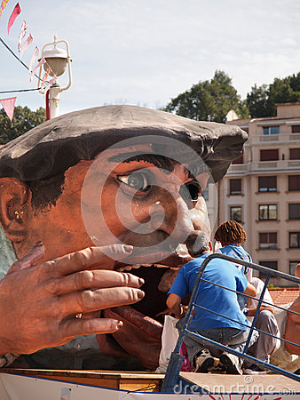 Gargantua at the Semana Grande festival in Bilbao Editorial Photography