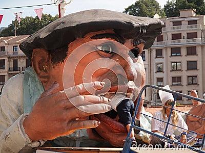 Gargantua at the Semana Grande festival in Bilbao Editorial Photography