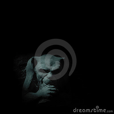 Free Gargoyle In Moonlight Royalty Free Stock Image - 248976