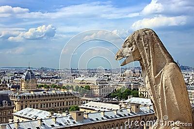Gargoyle on Notre Dame Cathedral, Paris