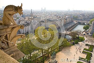 Gargoyle on the Notre-Dame de Paris