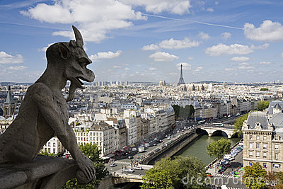 Gargoyle at Notre Dame in Paris