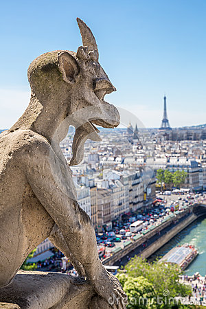 Free Gargoyle Paris Stock Photo - 42492530