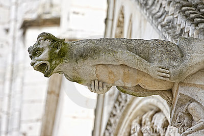 Gargoyle in Poitiers, France